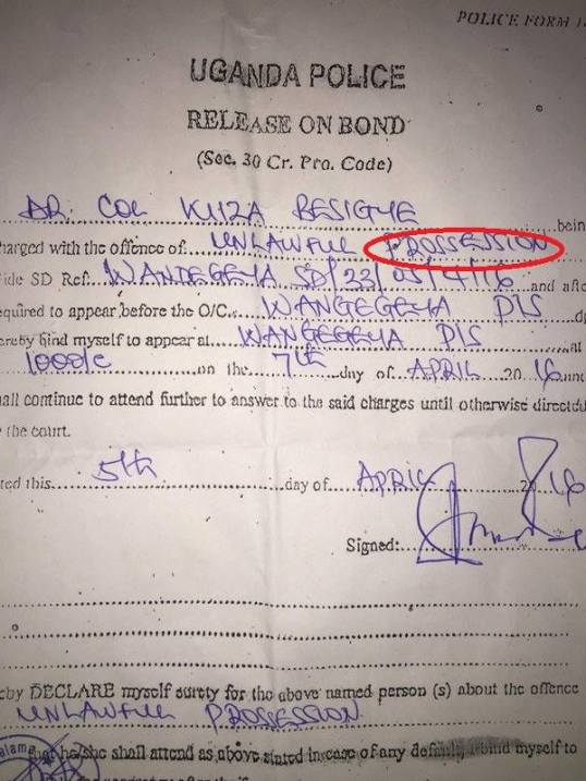 Besigye Release on Bond 05.04.2016