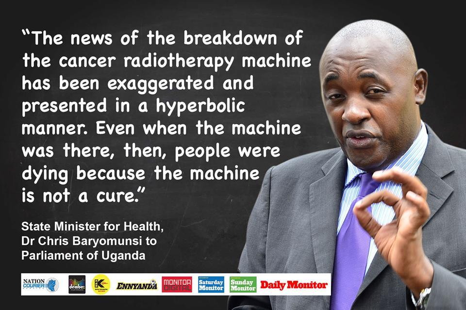 Chris Baryomunsi Quote Daily Monitor