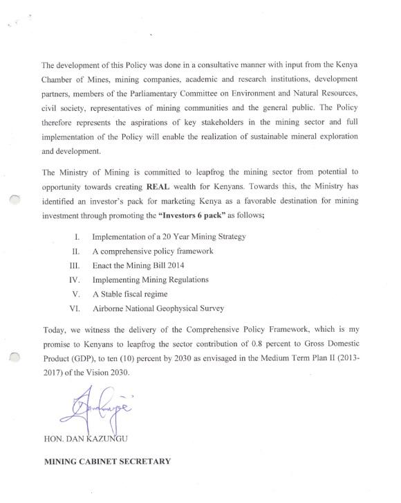 Kenya Mining Policy P2