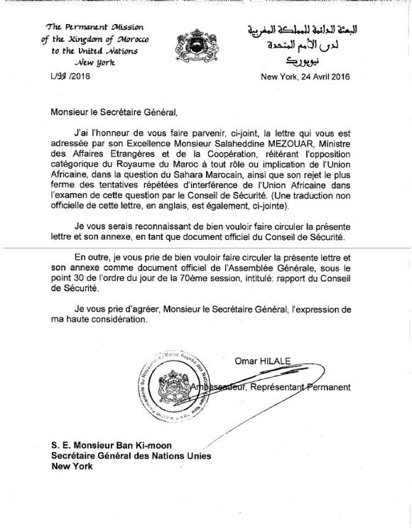 Morroco Letter April 2016 P1