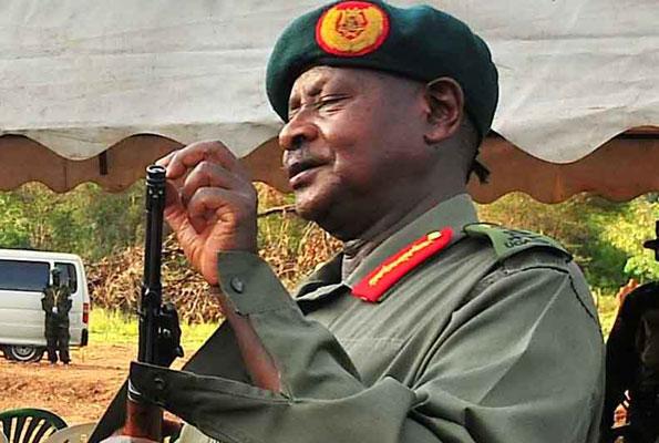 museveni and his gun