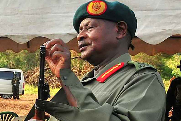 museveni and his gun