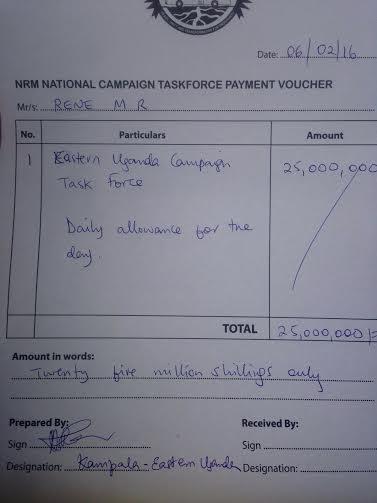 NRM National Campaign Taskforce Payment Voucher - Daily Allowance