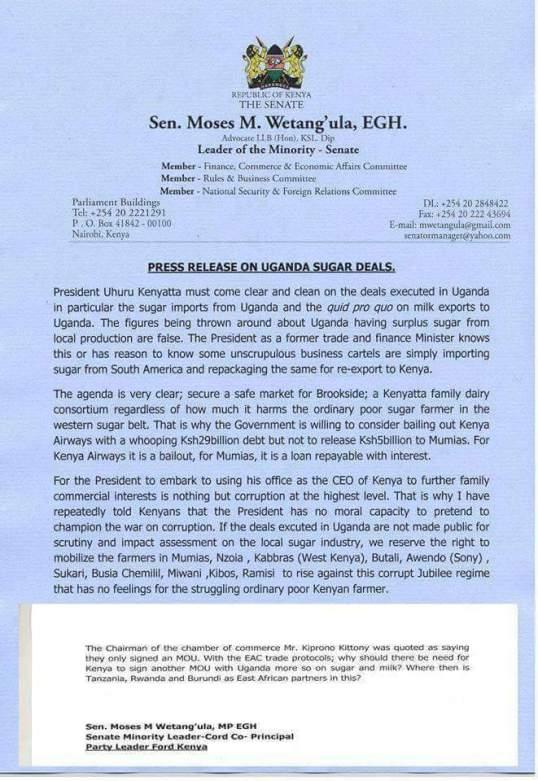 Sugar Deals Wentagula 2015 Press Release