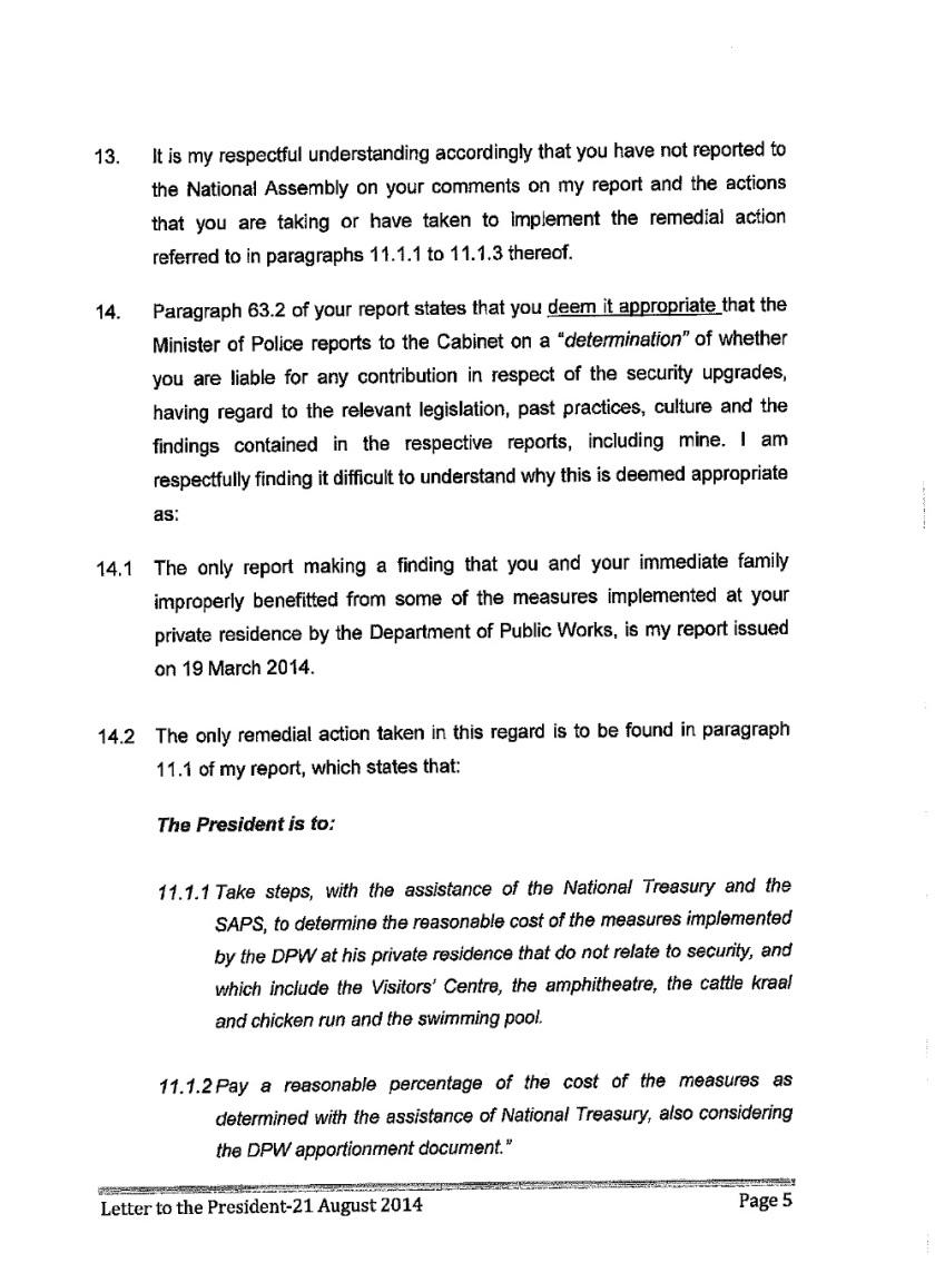 Thuli Mandsola to Zuma Letter 2014 P5
