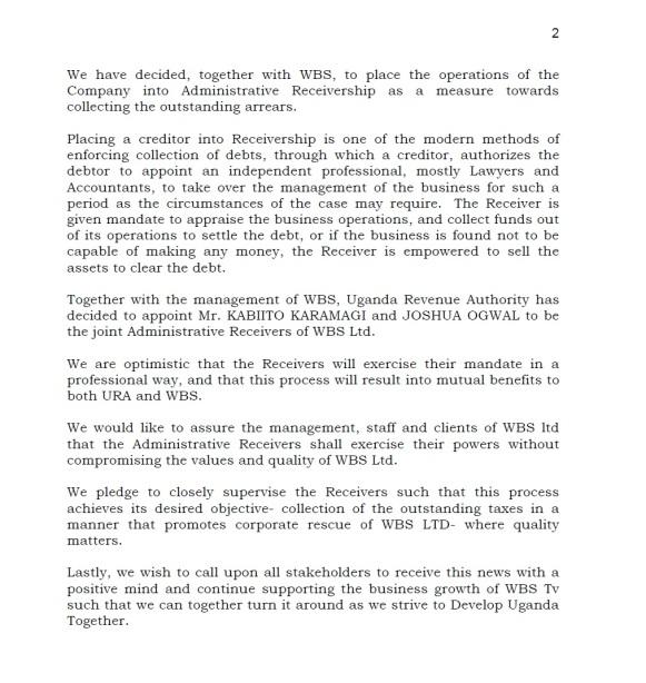 URA WBS Statement P2