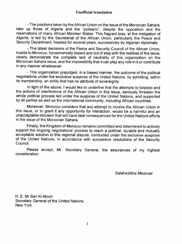 Western Sahara Letter April 2016 P2