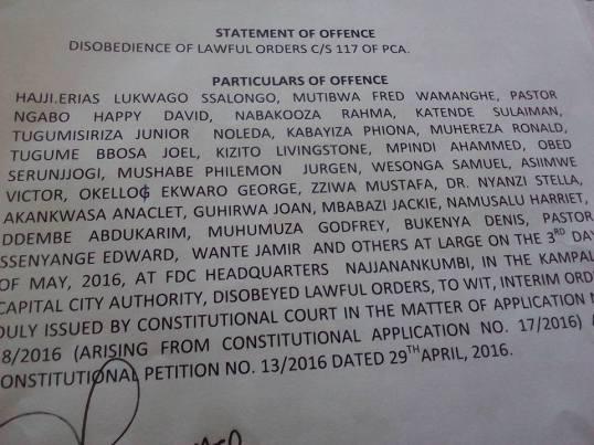 29th April Offence Uganda