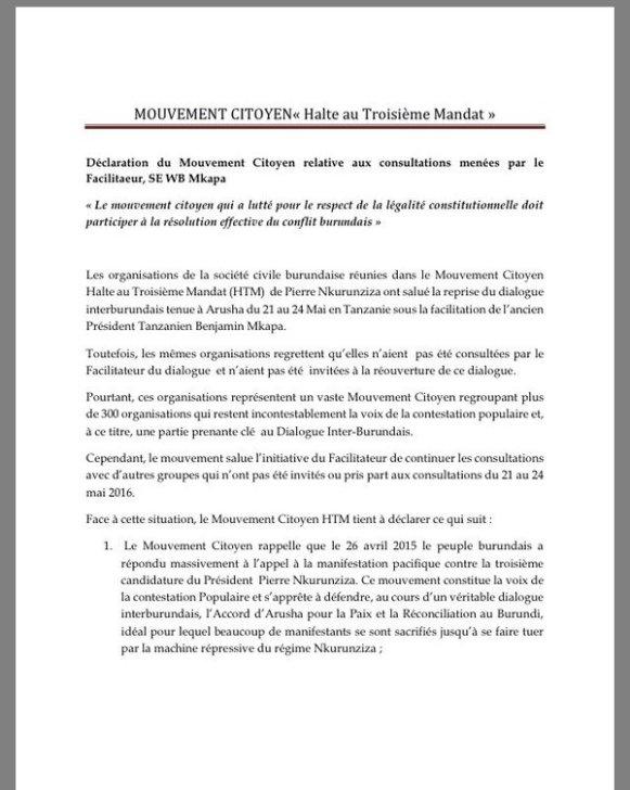 Burundi 29.05.2016 PR P1