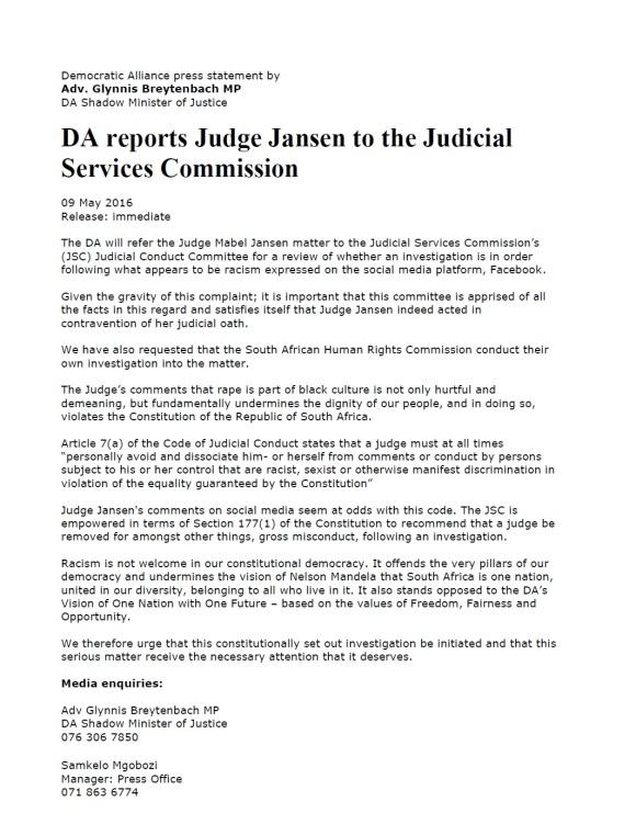 DA Report 09.05.2016