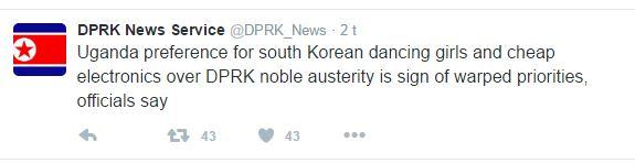 DPRK Twitter Uganda