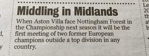 Fun Fact Aston Villa Nottingham
