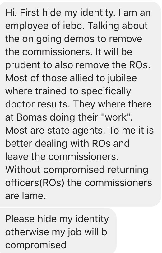 IEBC Employee Message