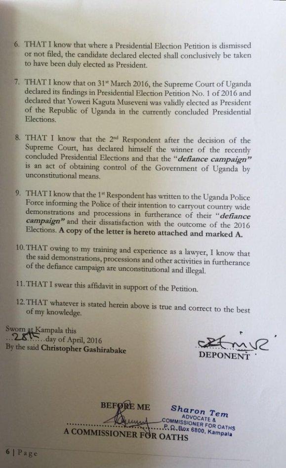 Interim Order Court Uganda April 2016 P3
