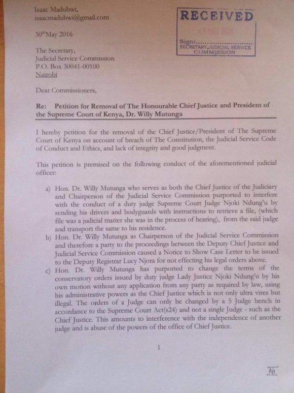 Justice Removed Kenya P1