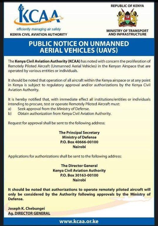 Kenya Avaition Notice 30.05.2016