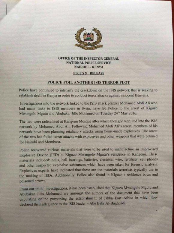 Kenya National Police 25.05.2016 P1