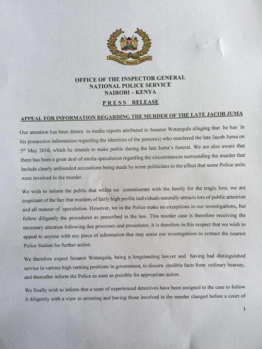 Kenya Police Press Release 11.05.2016 P1