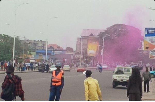 Kinshasa 26.05.2016 Tear Gas