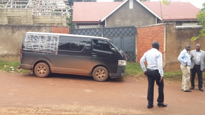 Lukwago's home have gotten the famous Black Van to his place, means he soon detained!