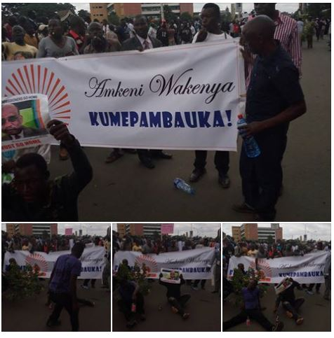 Nairobi 09.05.2016 Demonstration P1