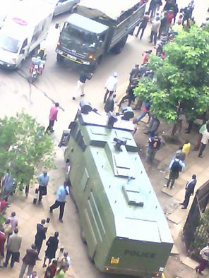 Nairobi 09.05.2016 Demonstration P3 Police