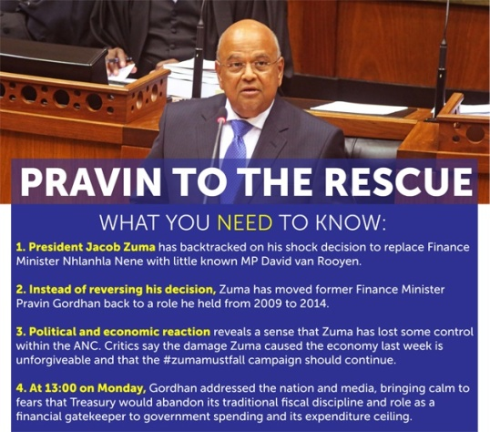 Pravin Gordhan Rescue