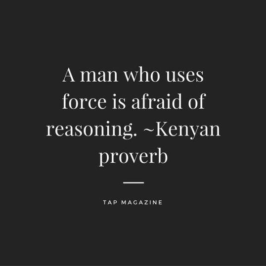 reason kenyan proverb
