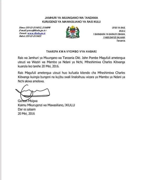 Tanzania May 2016