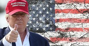 Trump broken flag