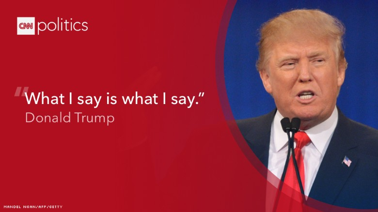 Trump debate quote CNN