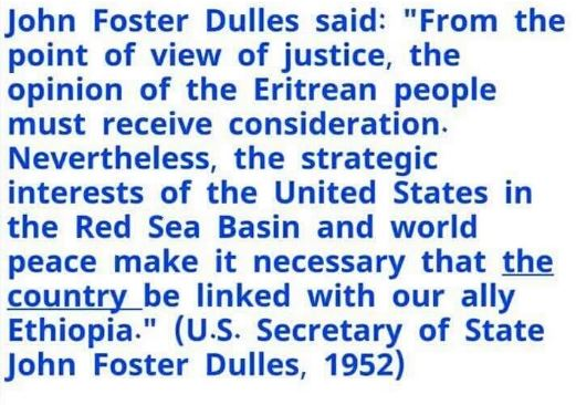 1952 Eritrea Foreign Affairs