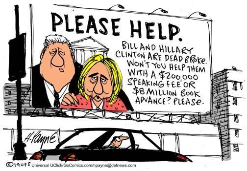 Bill and Hill Speech Cartoon