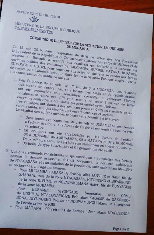 Burundi 15.06.2016 P1