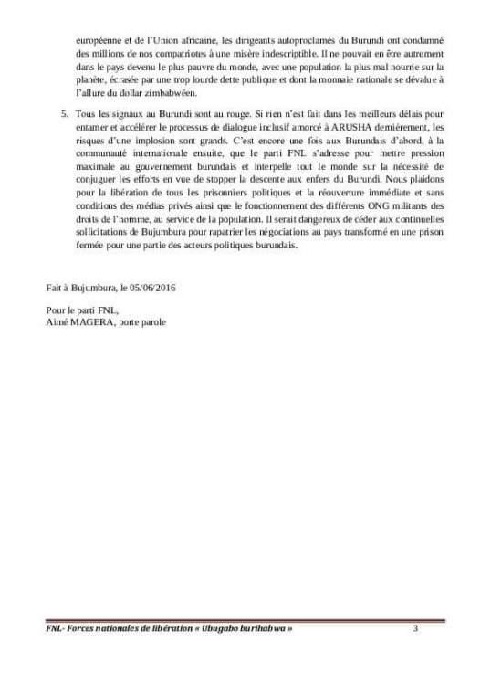 Burundi FNL 05.06.2016 P2