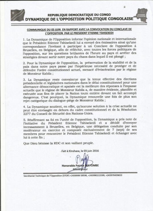 Congo Opposition