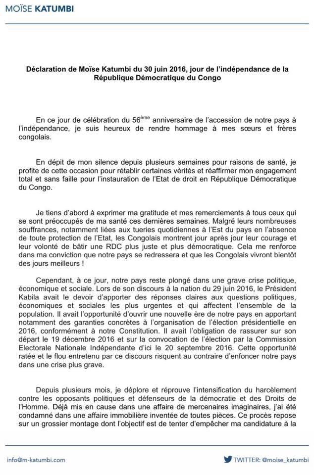 Declaration Moise 30.06.2016 P1