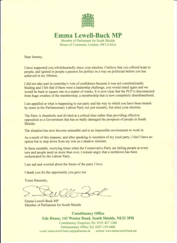 Emma Buck Letter MP June 2016