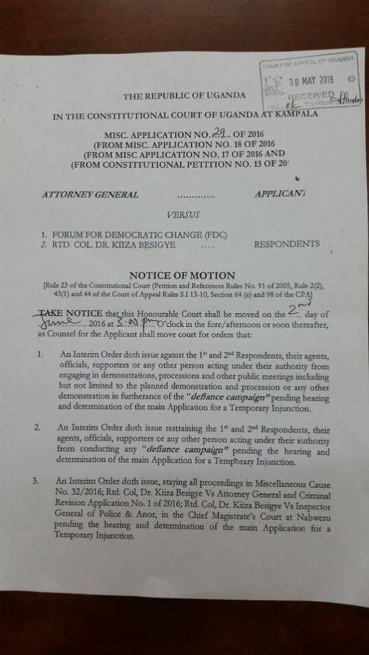 FDC Notice of Motion 30.05.2016 P1