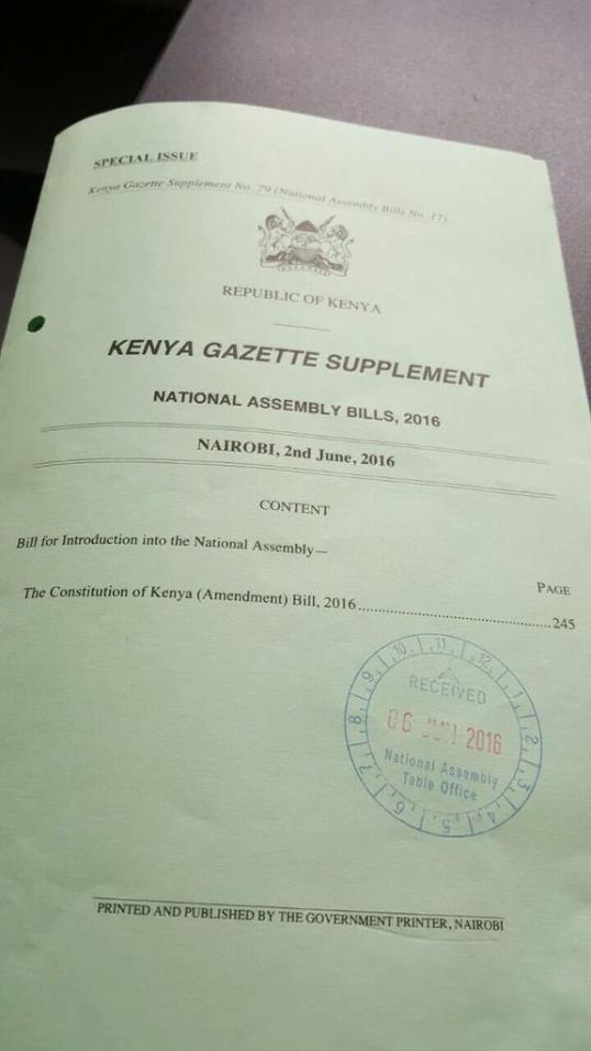Kenya Gazzete 02.06.2016 P1