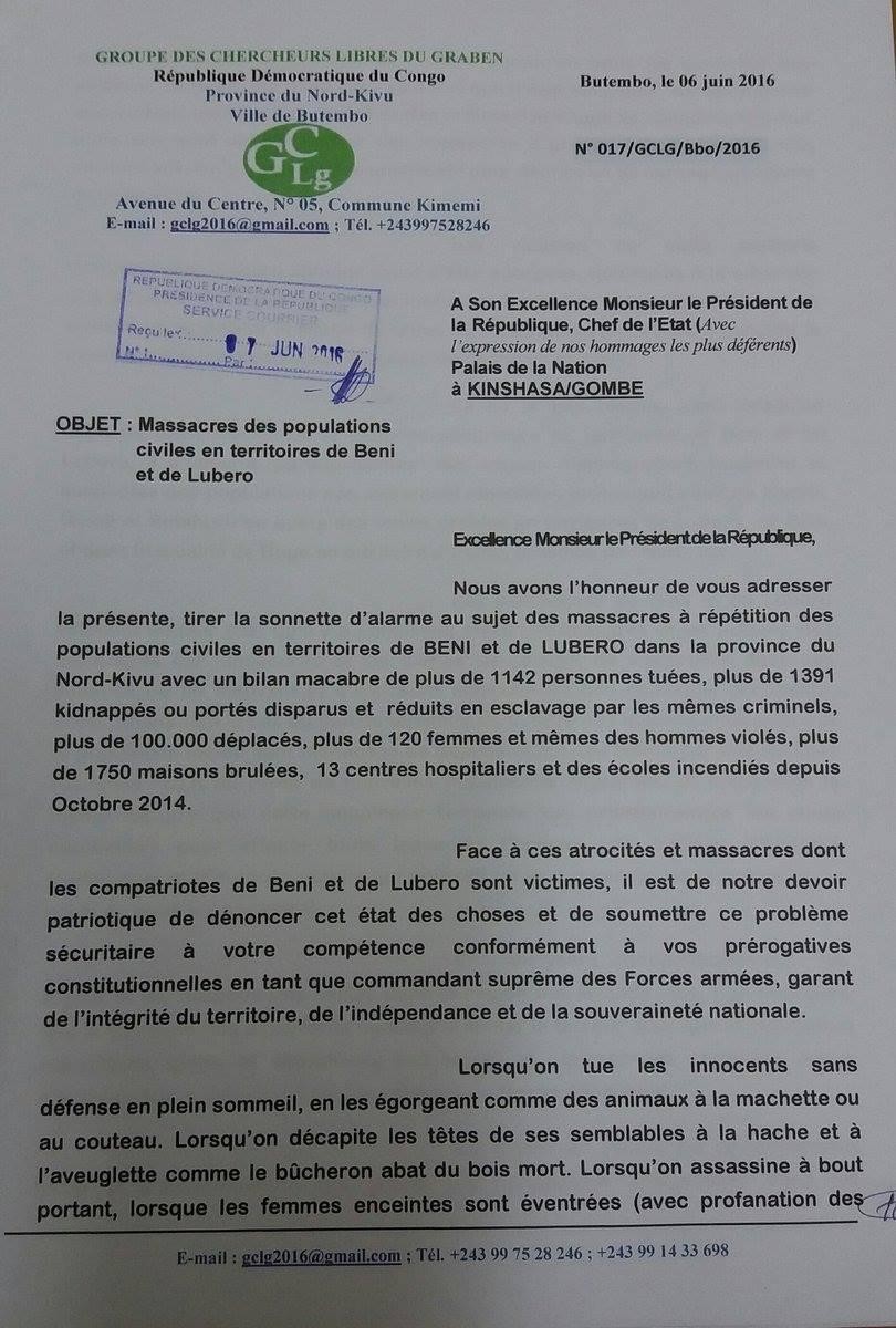 Letter Beni June 2016 P1