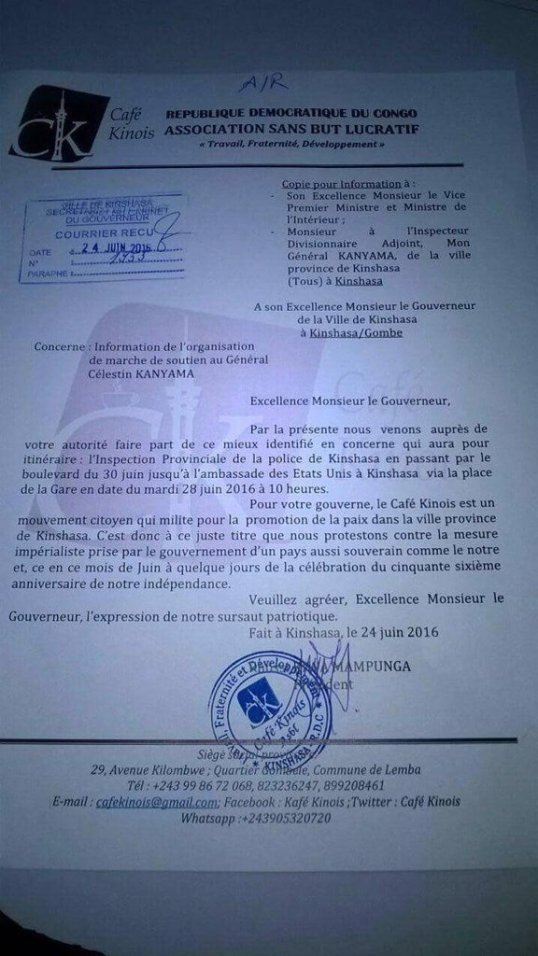 March DRC General June 2016