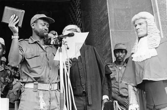 Museveni Swear in 1986
