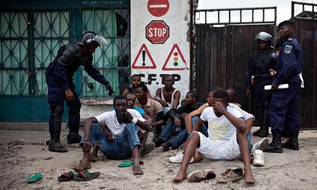 Police in KInshasa, Democratic Republic of Congo