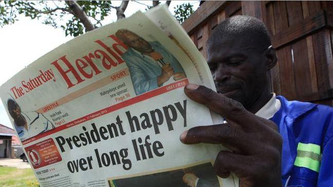 President Mugabe HBD Harare Herald