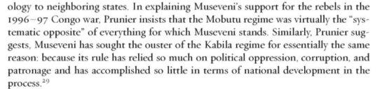 Prunier Quote Museveni