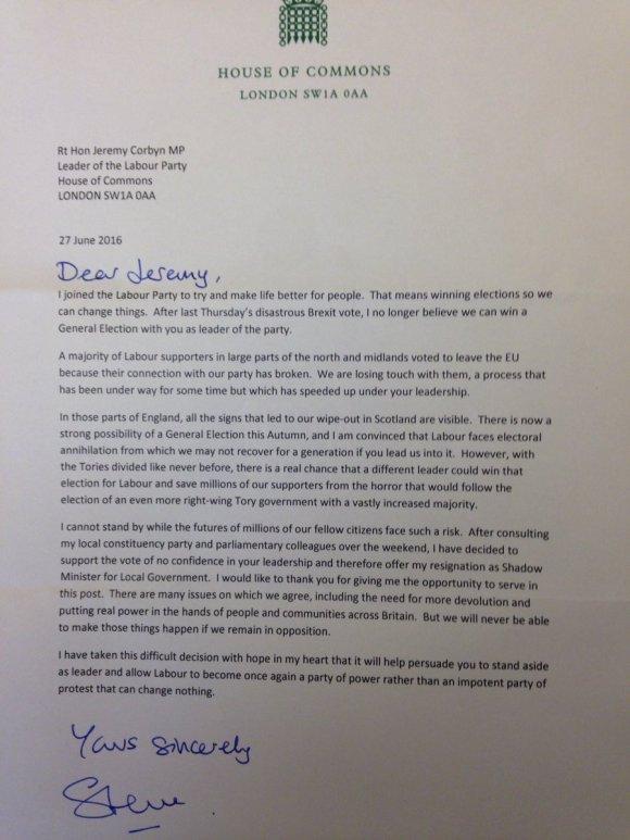 Steve Reed MP Letter 27.06.2016
