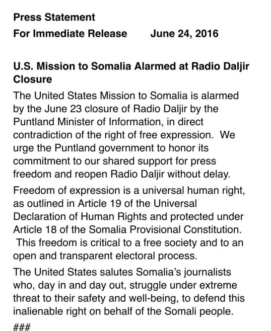 US Mission to Somalia 24.06.2016