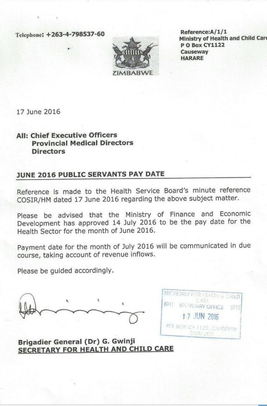 Zim Pay June 2016