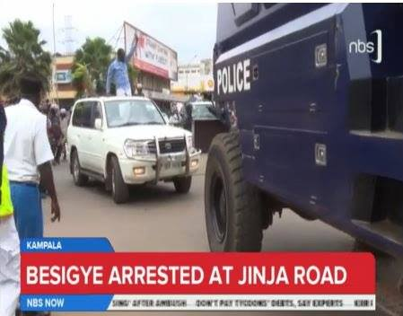 Besigye Jinja Road 25.07.2016